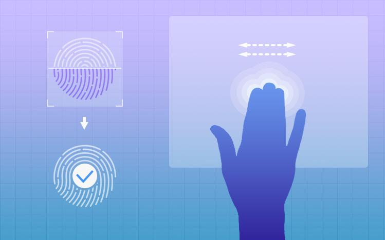 Deepin сканирование отпечатков пальцев и распознавание жестов тачпада