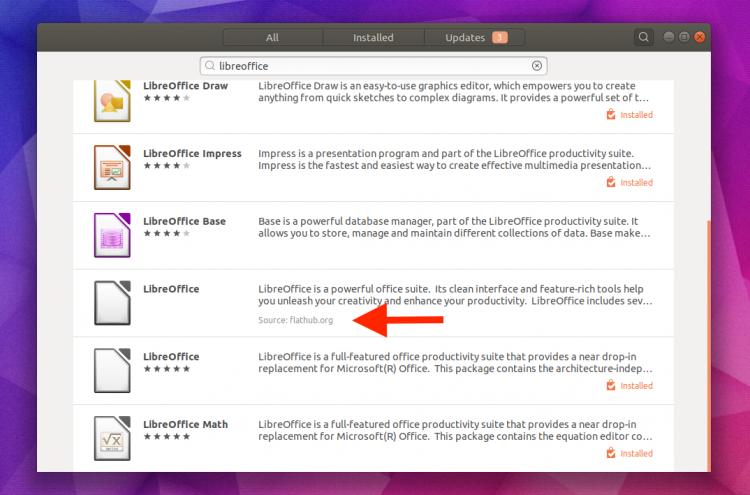 LibreOffice Flathub на Ubuntu