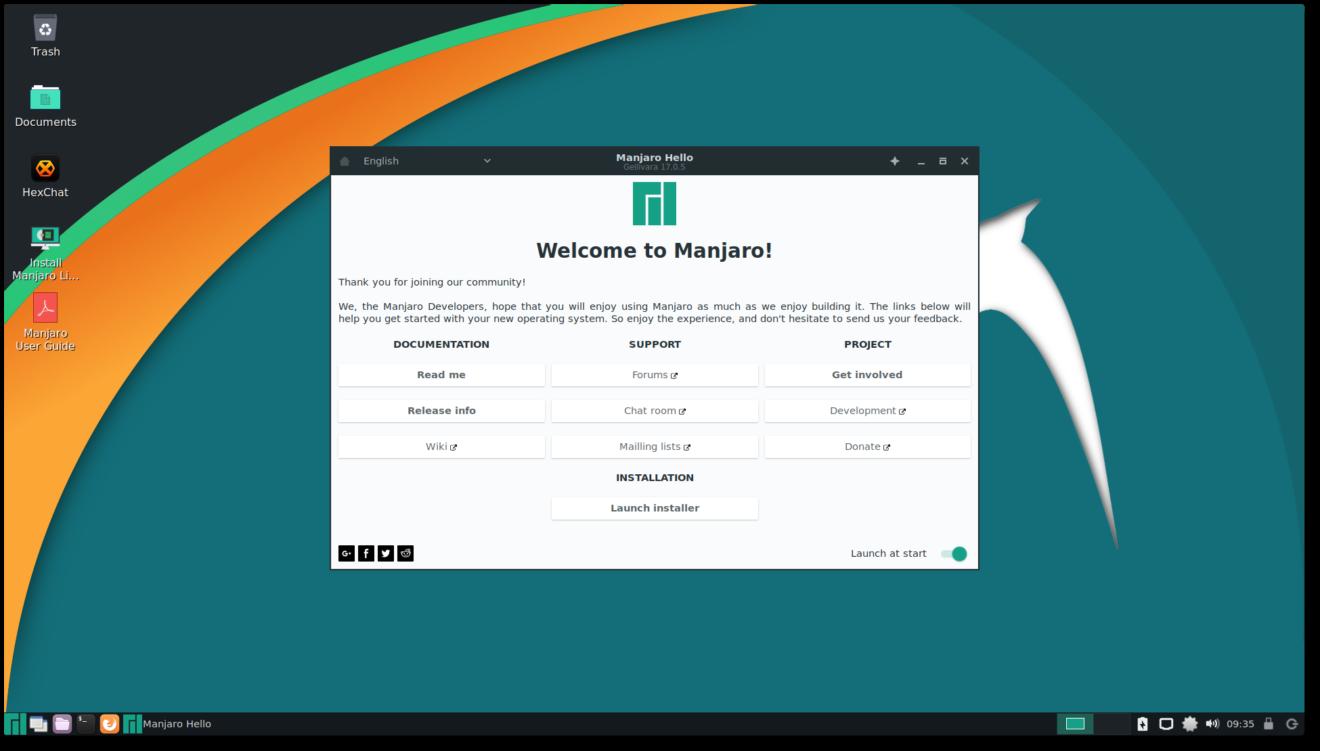 Лучшие легковесные дистрибутивы Linux 2018 - Manjaro LXDE