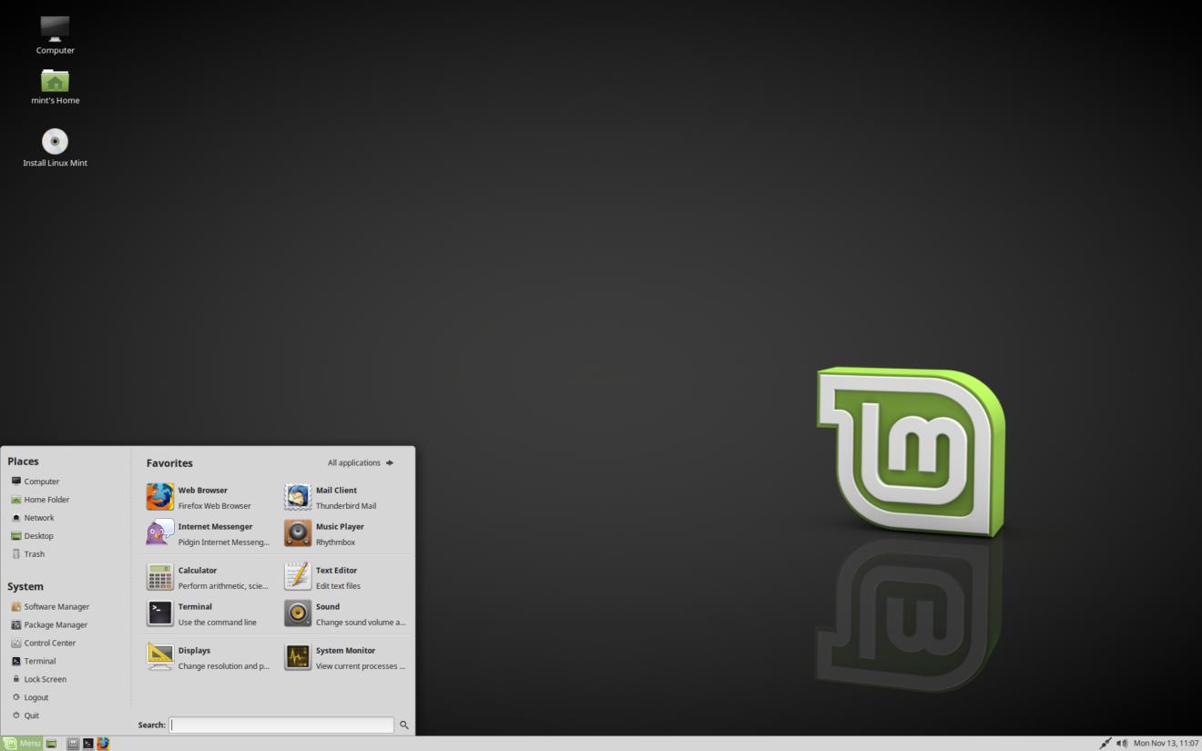 Linux Mint лучший дистрибутив для ноутбука