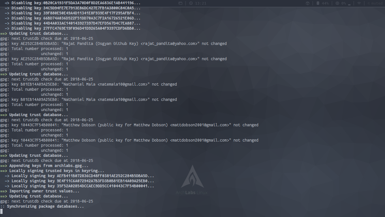 База системы ArchLabs