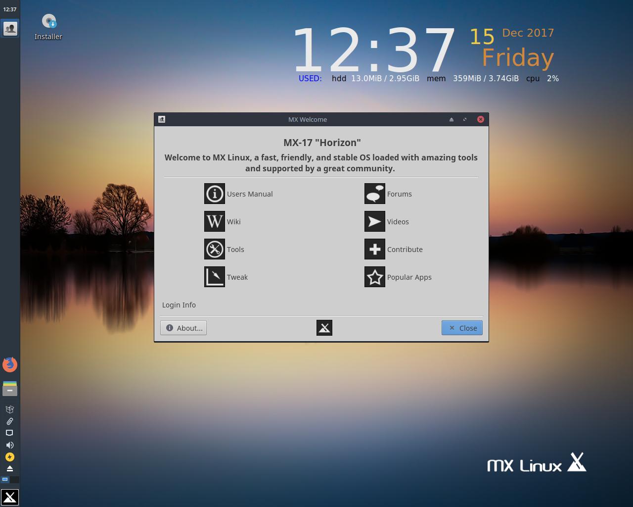 MX Linux лучший дистрибутив для ноутбука