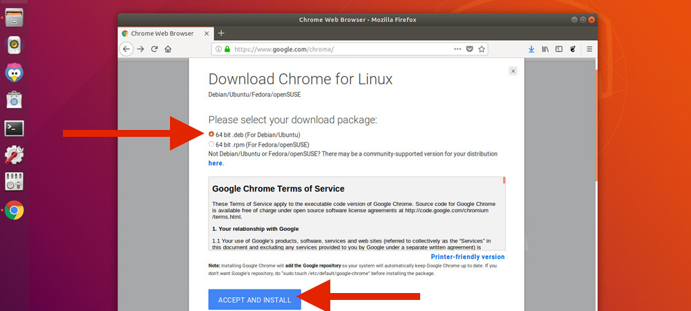 Как установить Google Chrome на Ubuntu