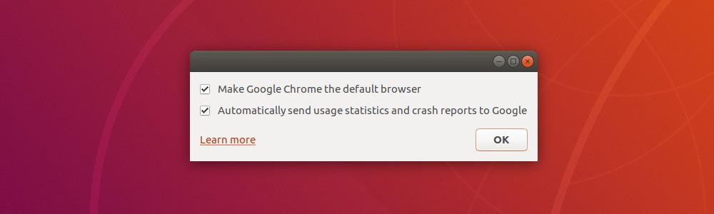 Chrome в Ubuntu по-умолчанию
