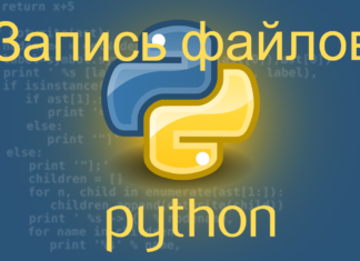 Запись файлов с помощью Python