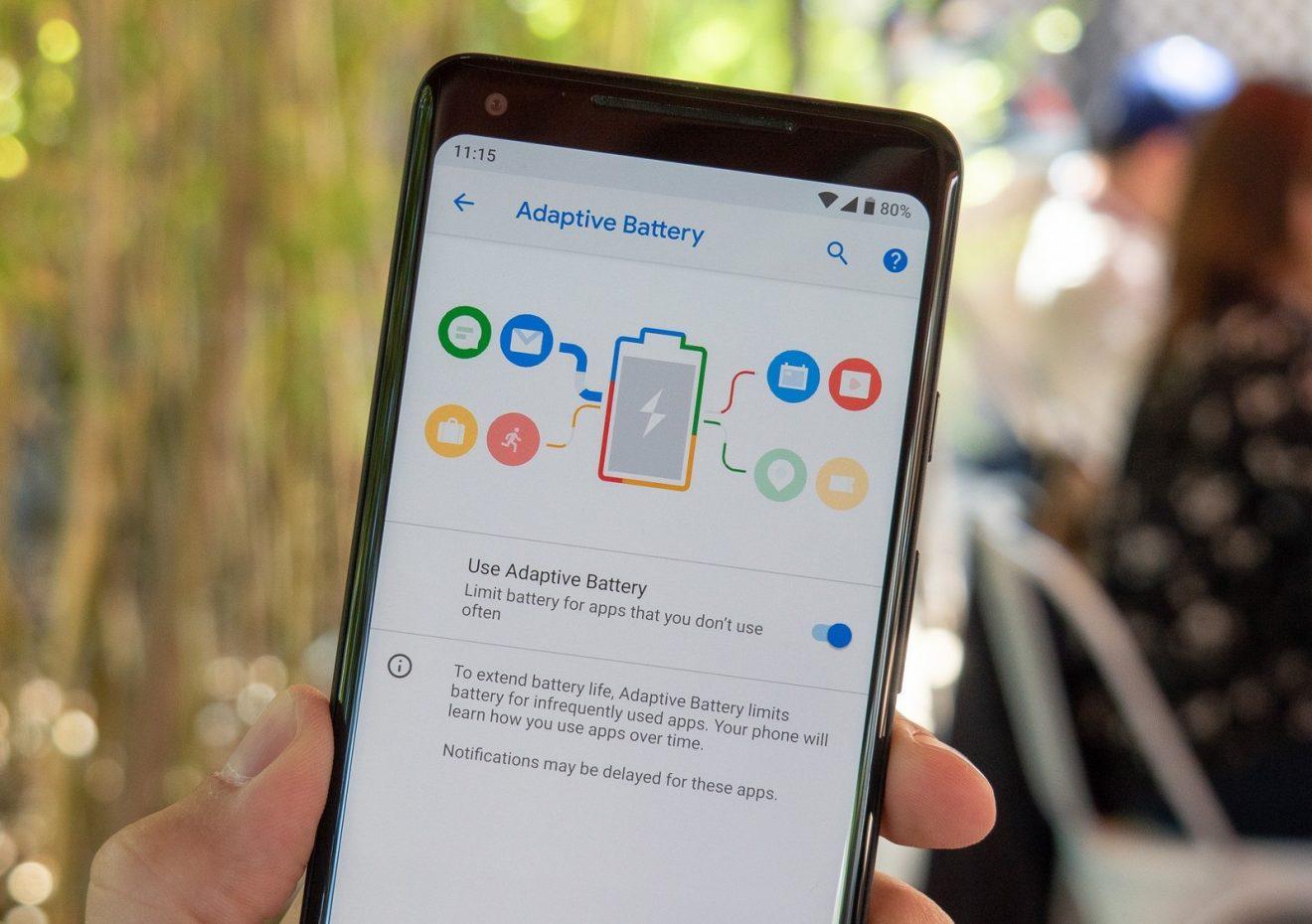 батарея android 9 pie