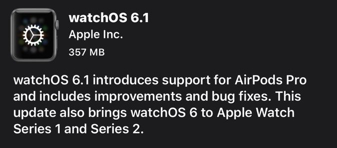 watchOS 6.1 что нового