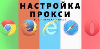 настройка прокси в разных браузерах